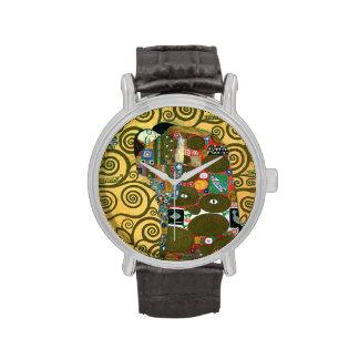 Cumplimiento (el abrazo) por Gustavo Klimt Reloj