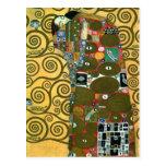 Cumplimiento (el abrazo) por Gustavo Klimt Postales