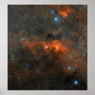 Cúmulo de estrellas abierto de NGC 3603 Impresiones