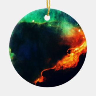 Cúmulo de estrellas azul y anaranjado ornato