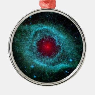 Cúmulo de estrellas azul y rojo de la nebulosa de  adorno de navidad