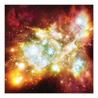 Cúmulo de estrellas caliente y brillante estupendo cojinete