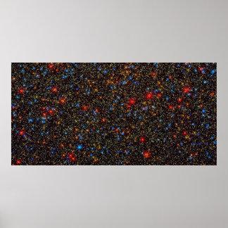 Cúmulo de estrellas Centauri de Omega Poster