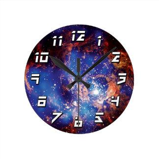 Cúmulo de estrellas de la corona reloj de pared