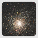 Cúmulo de estrellas de la vía láctea pegatina cuadrada