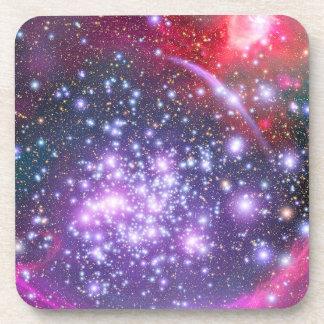 Cúmulo de estrellas de los arcos en sagitario posavasos de bebida
