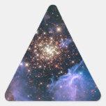 Cúmulo de estrellas de NASAs NGC3603 Calcomania De Trianguladas
