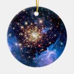 Cúmulo de estrellas de NGC 3603 Adorno Redondo De Cerámica