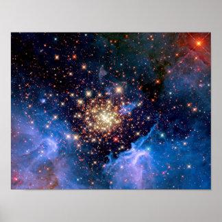 Cúmulo de estrellas de NGC 3603 Poster