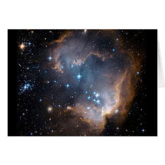 Cúmulo de estrellas del ángel el dormir tarjeta de felicitación