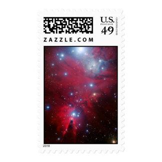 Cúmulo de estrellas del árbol de navidad sellos postales