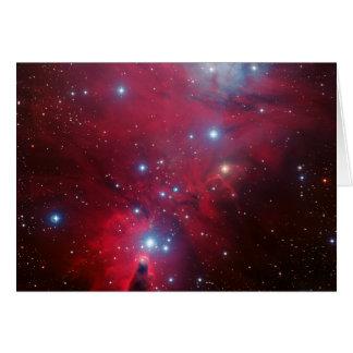 Cúmulo de estrellas del árbol de navidad tarjeta de felicitación