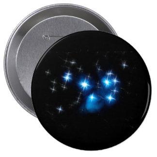 Cúmulo de estrellas del azul de Pleiades Pin Redondo 10 Cm