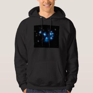 Cúmulo de estrellas del azul de Pleiades Sudadera Con Capucha