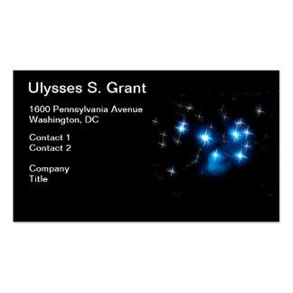 Cúmulo de estrellas del azul de Pleiades Tarjetas De Visita