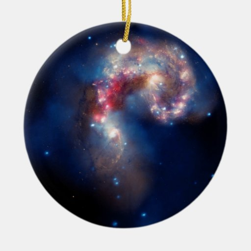 Cúmulo de estrellas del caramelo de NGC 4038-4039 Adorno Navideño Redondo De Cerámica
