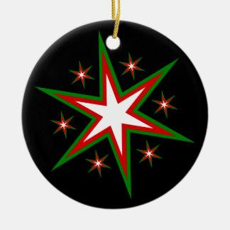 Cúmulo de estrellas del día de fiesta del deslumbr adorno de navidad