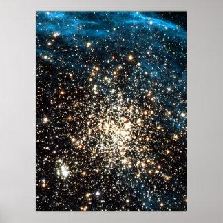 Cúmulo de estrellas en NGC 1850 18x24 (21x27) Póster