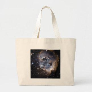 Cúmulo de estrellas geométrico bolsa tela grande