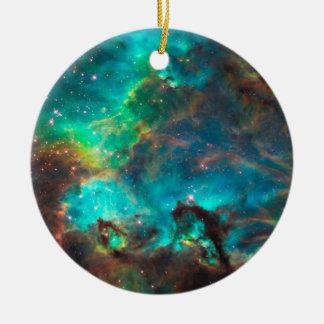 Cúmulo de estrellas imponente de la aguamarina ornamentos de reyes magos
