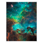 Cúmulo de estrellas imponente de la aguamarina impresiones