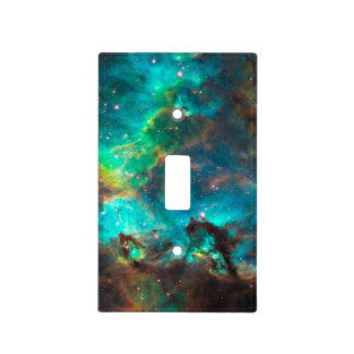 Cúmulo de estrellas imponente de la aguamarina cubiertas para interruptor