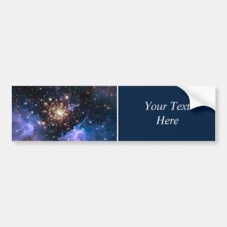 Cúmulo de estrellas NGC 3603 (Hubble) Etiqueta De Parachoque