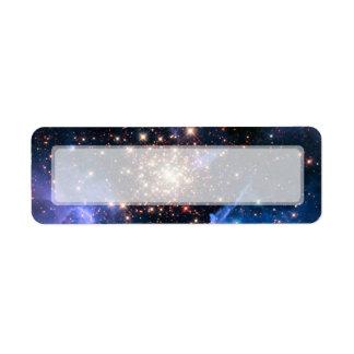 Cúmulo de estrellas NGC 3603 (Hubble) Etiquetas De Remite