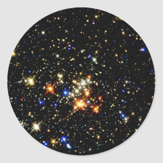 Cúmulo de estrellas pegatina redonda