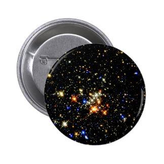 Cúmulo de estrellas pin redondo de 2 pulgadas