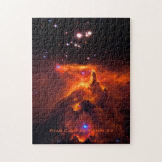 Cúmulo de estrellas Pismis 24, base de NGC 6357 Puzzle
