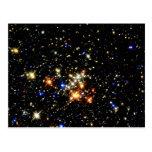 Cúmulo de estrellas postal