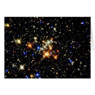 Cúmulo de estrellas tarjeta de felicitación