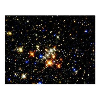 Cúmulo de estrellas tarjeta postal