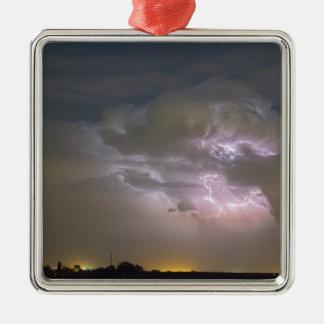 Cumulonimbus Cloud Explosion Metal Ornament