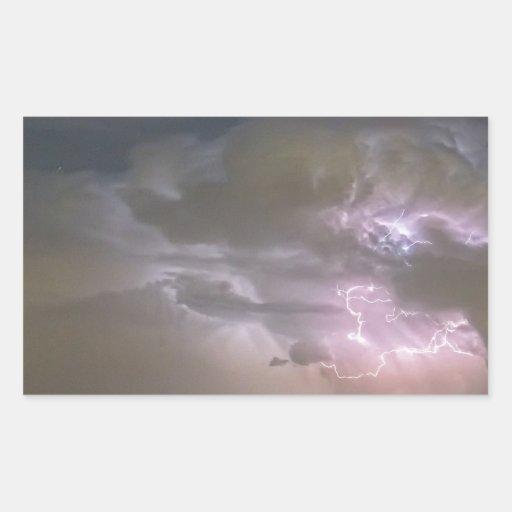 Cumulonimbus Cloud Explosion Rectangular Sticker