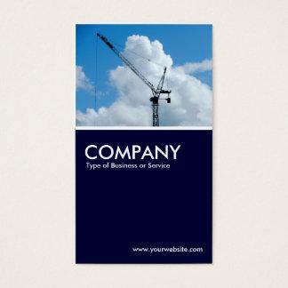 Cumulonimbus Crane - Dark Navy Business Card