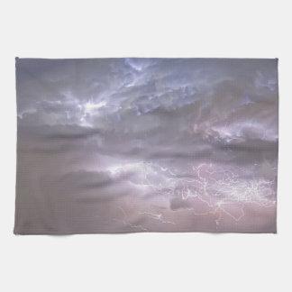Cumulonimbus Lightning Storm and Star Trails Above Kitchen Towel