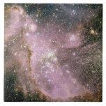 Cúmulos de estrellas azulejo cuadrado grande