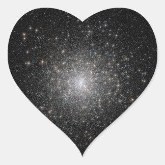 Cúmulos de estrellas - cielo estrellado calcomanías corazones personalizadas