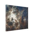 Cúmulos de estrellas impresión en lona estirada