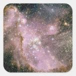 Cúmulos de estrellas pegatina cuadrada