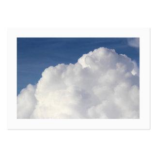 Cumulus Cloud (Bordered) Large Business Card