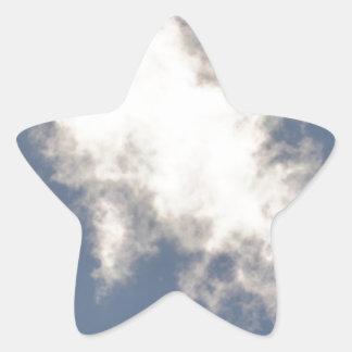 Cumulus Cloud floating in a bright Blue Sky. Star Sticker