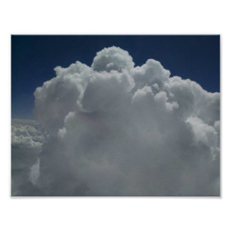 Cumulus clouds billow upwards in the Rockies. Poster