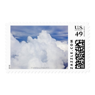 Cumulus clouds viewed from high angle. postage stamp