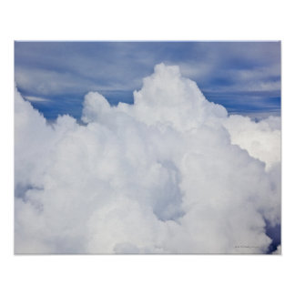 Cumulus clouds viewed from high angle. poster