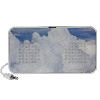 Cumulus clouds viewed from high angle. iPod speakers