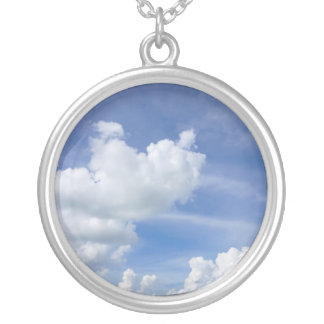 Cumulus Puffs Silver Plated Necklace