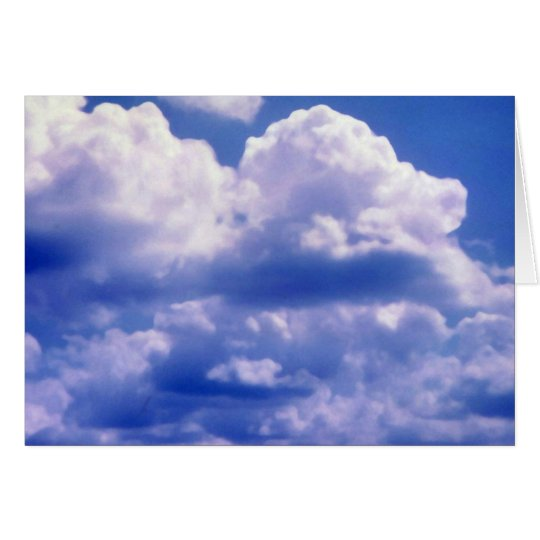 Cumulus skies card